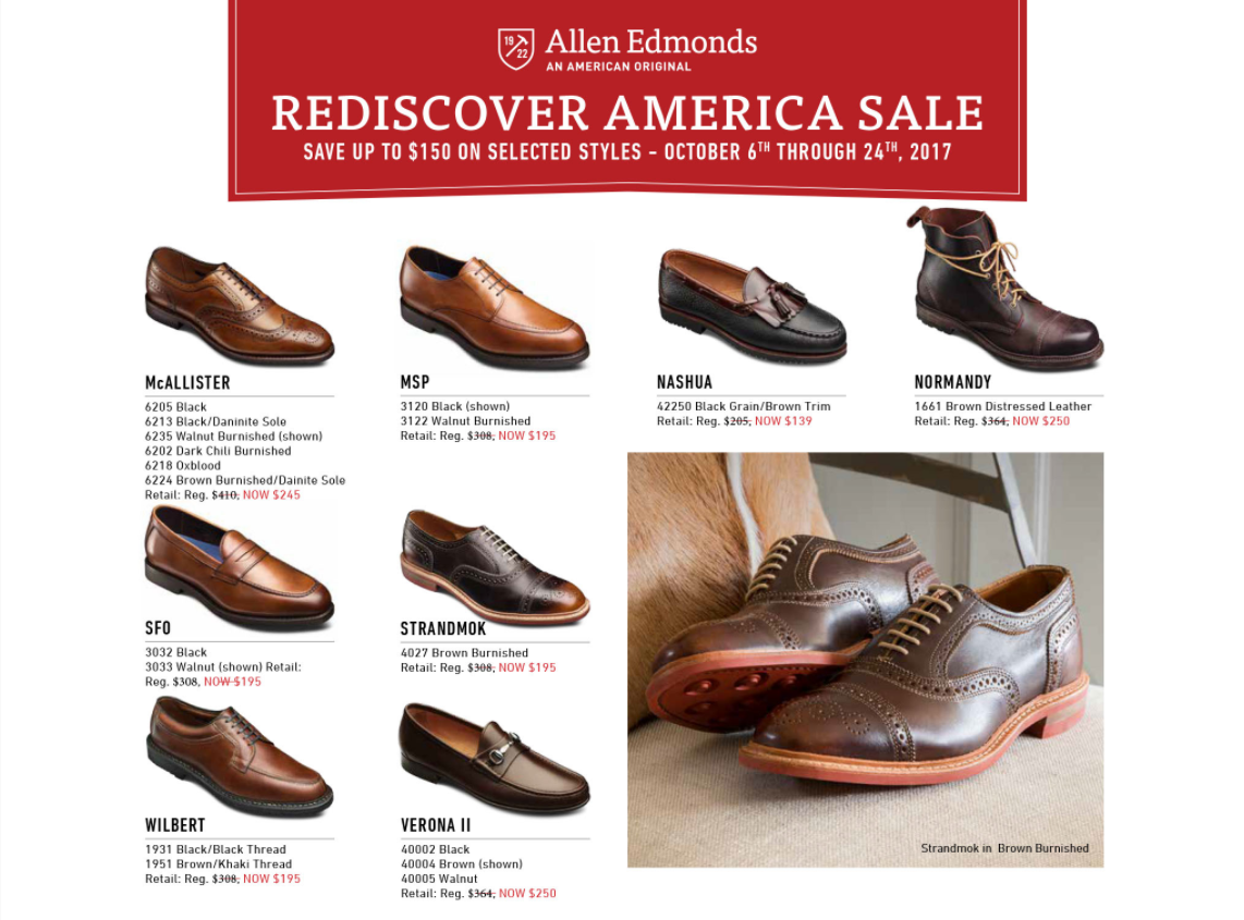 SFO Strandmok wilbert verona made in america promotion allen edmonds normandy