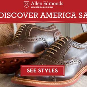 Allen Edmodns Fall 2018 Rediscover America Shoe Sale