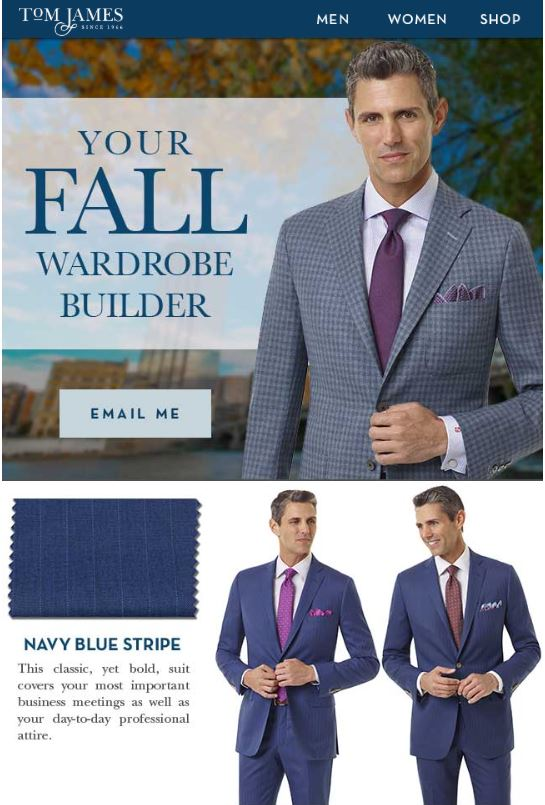 Erik Peterson Tom James Fall 2019 Suits Shirts Ties Sport Coats Wedding Tampa Sarasota Lakeland Clearwater St Petersburg Florida